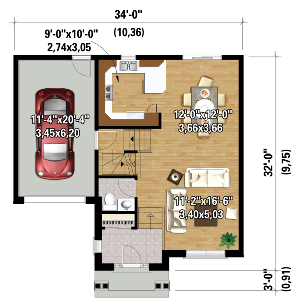 Traditional Floor Plan - Main Floor Plan #25-4423