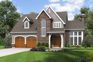 Craftsman Exterior - Front Elevation Plan #48-677