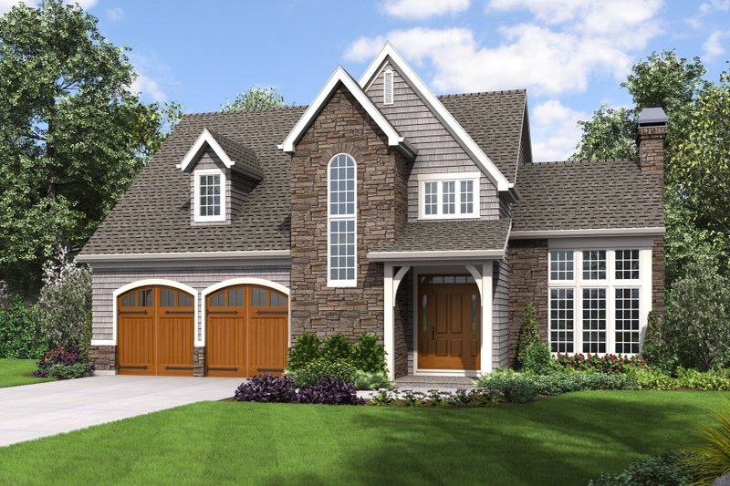Craftsman Style House Plan - 4 Beds 2.5 Baths 2190 Sq/Ft Plan #48-677 Exterior - Front Elevation