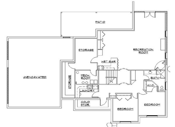 Traditional Floor Plan - Lower Floor Plan Plan #5-261