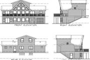House Plan - 3 Beds 2 Baths 1692 Sq/Ft Plan #47-372 Exterior - Rear Elevation