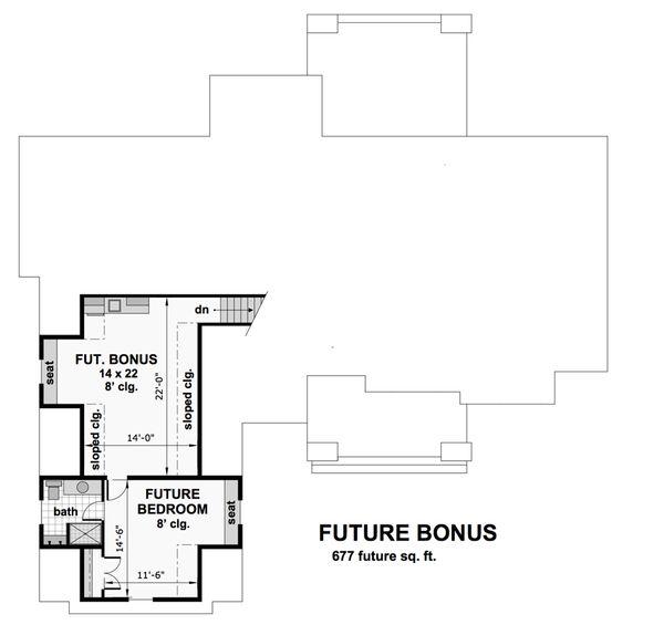 Cottage Floor Plan - Upper Floor Plan #51-568