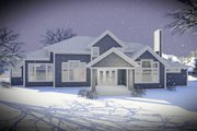 Craftsman Style House Plan - 5 Beds 4.5 Baths 4206 Sq/Ft Plan #70-1471 Exterior - Front Elevation