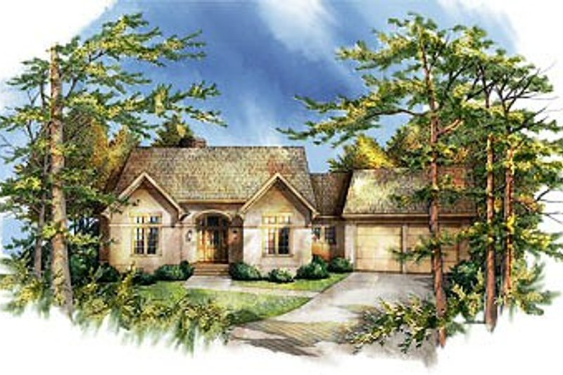 Traditional Style House Plan - 2 Beds 2.5 Baths 2582 Sq/Ft Plan #71-116 Exterior - Front Elevation