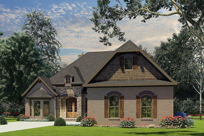 European Style House Plan - 3 Beds 2 Baths 2147 Sq/Ft Plan #17-2508