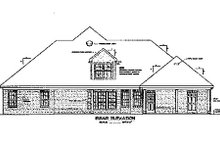 Southern Exterior - Rear Elevation Plan #37-194