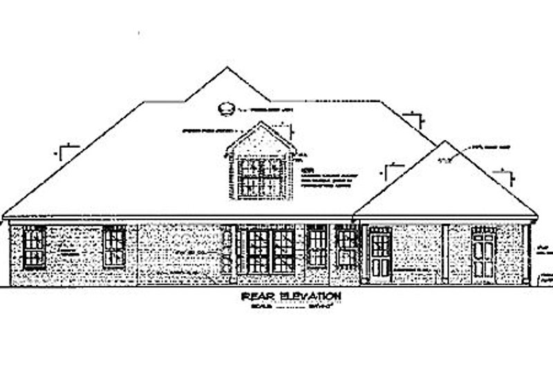 Southern Exterior - Rear Elevation Plan #37-194 - Houseplans.com