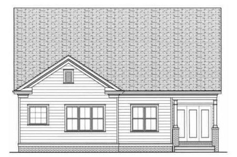 Farmhouse Exterior - Rear Elevation Plan #413-785 - Houseplans.com