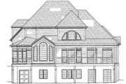 Colonial Style House Plan - 4 Beds 2.5 Baths 2547 Sq/Ft Plan #119-132 Exterior - Rear Elevation