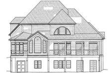 Colonial Exterior - Rear Elevation Plan #119-132