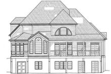 Home Plan - Colonial Exterior - Rear Elevation Plan #119-132