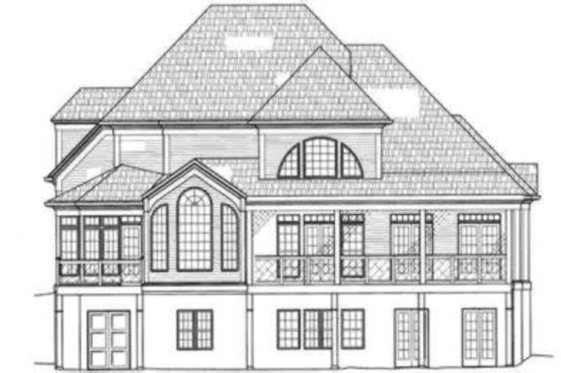 Colonial Exterior - Rear Elevation Plan #119-132 - Houseplans.com