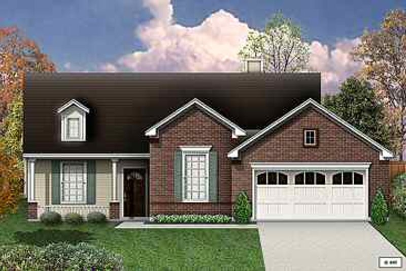Traditional Exterior - Front Elevation Plan #84-130 - Houseplans.com