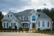 Traditional Style House Plan - 4 Beds 3.5 Baths 2940 Sq/Ft Plan #927-29 Exterior - Front Elevation