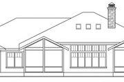 Prairie Style House Plan - 3 Beds 3.5 Baths 3394 Sq/Ft Plan #124-821 Exterior - Rear Elevation