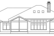 Prairie Exterior - Rear Elevation Plan #124-821
