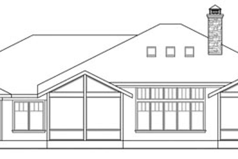 Prairie Exterior - Rear Elevation Plan #124-821 - Houseplans.com