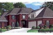 European Style House Plan - 4 Beds 3 Baths 3450 Sq/Ft Plan #15-268 Exterior - Front Elevation