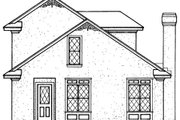 European Style House Plan - 2 Beds 2 Baths 1081 Sq/Ft Plan #45-102 Exterior - Rear Elevation