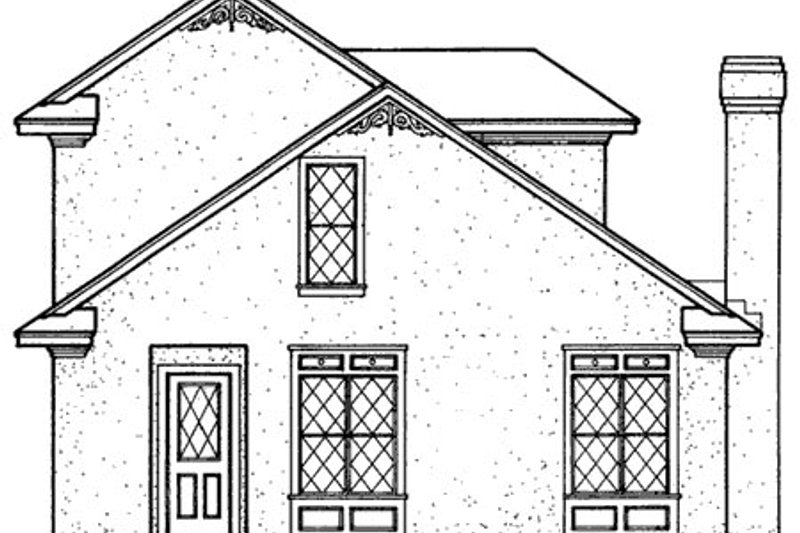 European Exterior - Rear Elevation Plan #45-102 - Houseplans.com