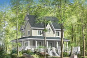 Country Style House Plan - 3 Beds 1 Baths 1781 Sq/Ft Plan #25-4552 Exterior - Front Elevation