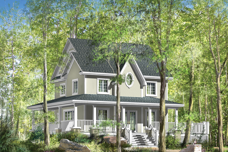 Country Style House Plan - 3 Beds 1 Baths 1781 Sq/Ft Plan #25-4552