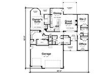 Craftsman Floor Plan - Main Floor Plan Plan #20-2080