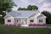 Ranch Style House Plan - 3 Beds 2 Baths 1403 Sq/Ft Plan #427-11 Exterior - Other Elevation