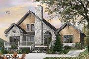 Craftsman Style House Plan - 3 Beds 2.5 Baths 1816 Sq/Ft Plan #23-2485 Exterior - Rear Elevation