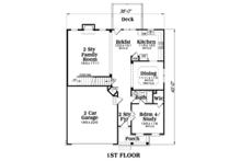 Traditional Floor Plan - Main Floor Plan Plan #419-247