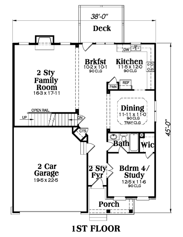 Traditional Floor Plan - Main Floor Plan Plan #419-247