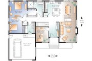 Contemporary Style House Plan - 2 Beds 1 Baths 1676 Sq/Ft Plan #23-2294 Floor Plan - Main Floor Plan