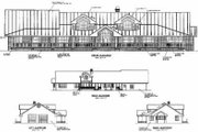 Ranch Style House Plan - 3 Beds 2.5 Baths 2824 Sq/Ft Plan #60-296 Exterior - Other Elevation