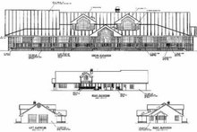Dream House Plan - Ranch Exterior - Other Elevation Plan #60-296