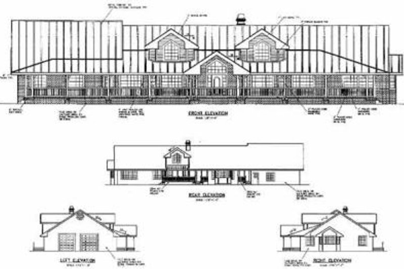 Ranch Exterior - Other Elevation Plan #60-296 - Houseplans.com