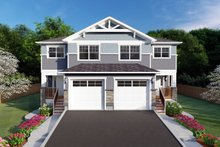 Craftsman Exterior - Front Elevation Plan #126-197