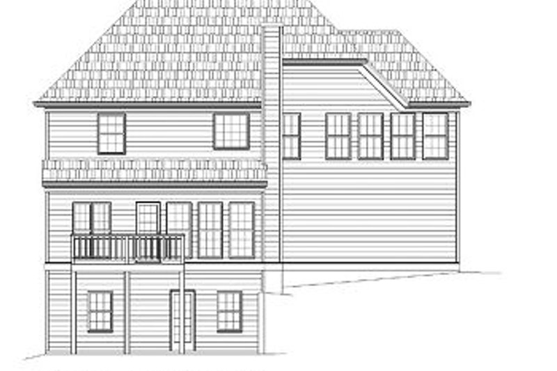 European Exterior - Rear Elevation Plan #119-273 - Houseplans.com