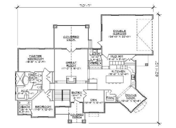 Traditional Floor Plan - Main Floor Plan Plan #5-257