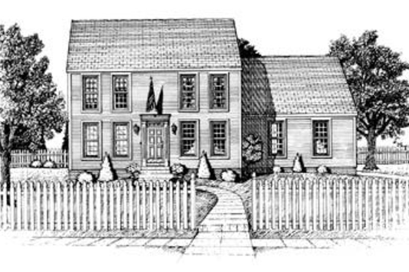 Colonial Exterior - Front Elevation Plan #20-557