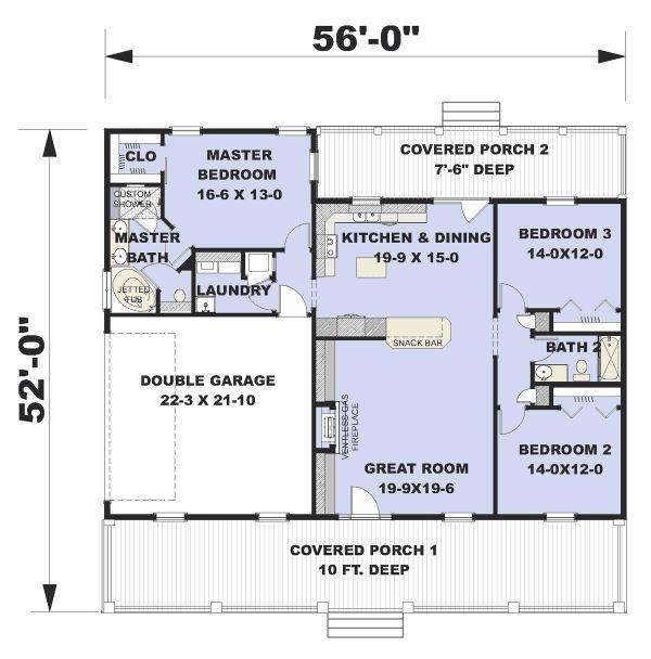 Traditional Floor Plan - Main Floor Plan Plan #44-236