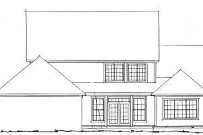Country Exterior - Rear Elevation Plan #20-356 - Houseplans.com