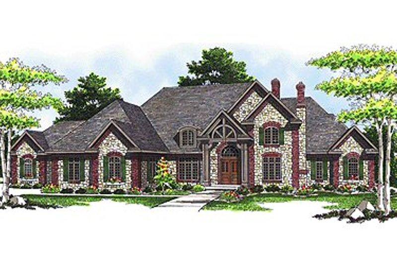 Dream House Plan - European Exterior - Front Elevation Plan #70-559