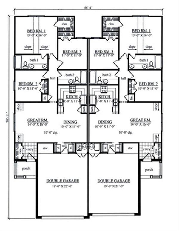 Country Floor Plan - Main Floor Plan #42-379