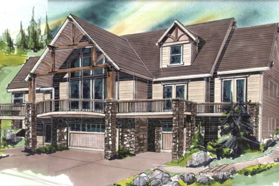 Contemporary Exterior - Front Elevation Plan #509-15