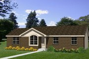 Traditional Style House Plan - 3 Beds 1 Baths 997 Sq/Ft Plan #116-299 Exterior - Front Elevation