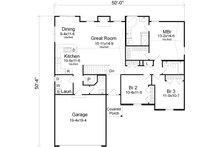 Traditional Floor Plan - Main Floor Plan Plan #22-521
