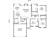 Traditional Floor Plan - Main Floor Plan Plan #22-521
