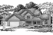 Traditional Style House Plan - 4 Beds 2.5 Baths 2367 Sq/Ft Plan #70-374 Exterior - Front Elevation