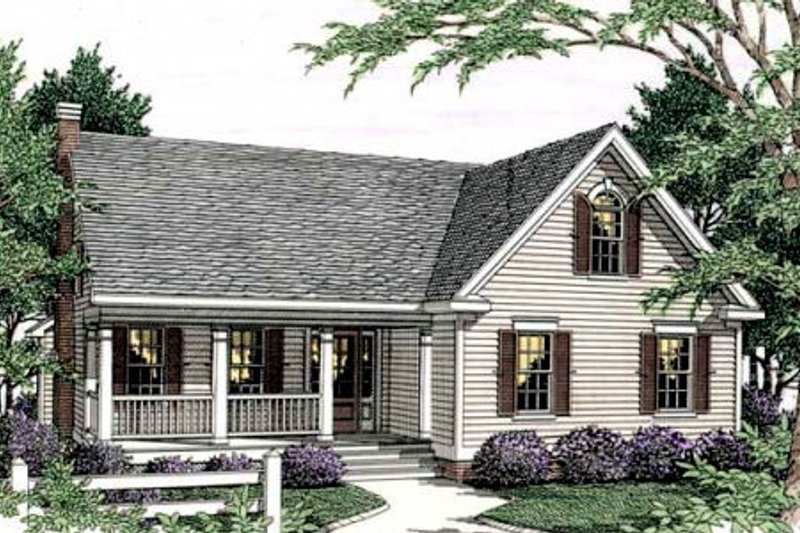 Country Exterior - Front Elevation Plan #406-245