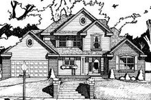 Dream House Plan - Traditional Exterior - Front Elevation Plan #20-589